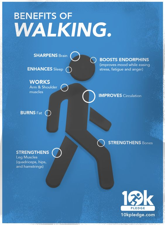 benefits of walking 10k pledge